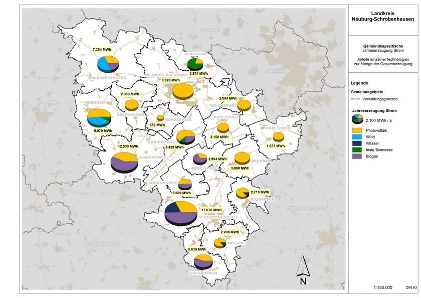 ZREU Klimaschutzkonzept Energieatlas / Energienutzungsplan Neuburg Schrobenhausen